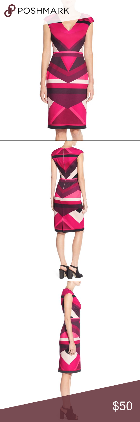 Vince Camuto Colorblock Sheath Dress 0p Petite Dresses Sheath Dress Clothes Design [ 1740 x 580 Pixel ]
