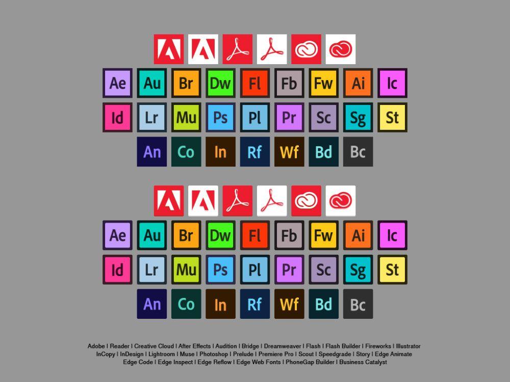 Free Flat Adobe Icons Wordpress blog post, Icon, Adobe