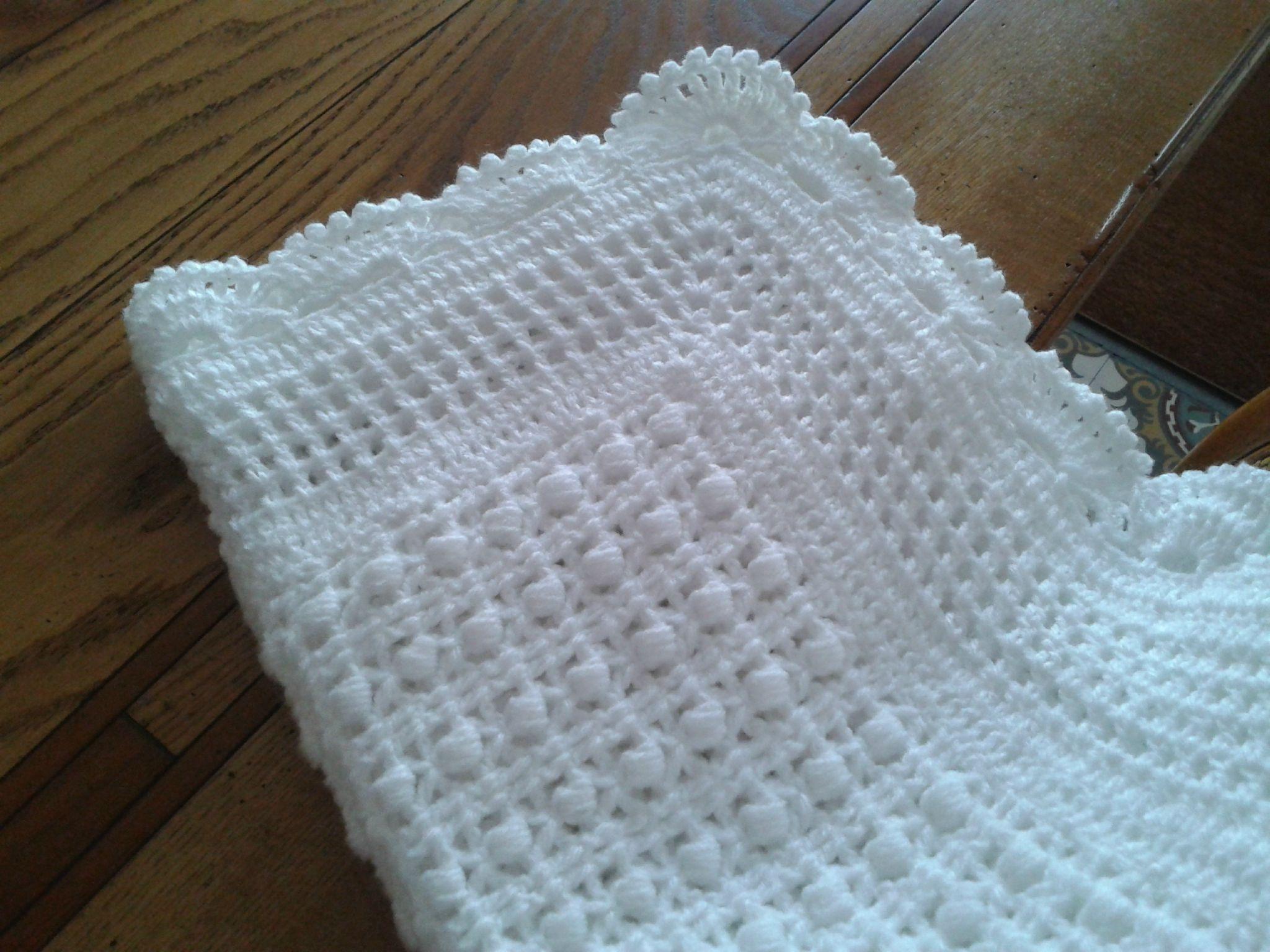 Modele couverture tricot pour bebe gratuit crochet pinterest tricot pour b b couvertures - Modele tricot bebe gratuit debutant ...
