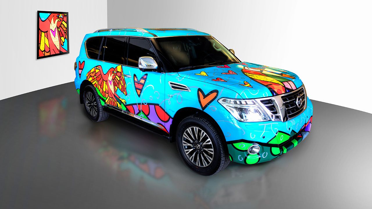 Al Masaood Automobiles Nissan Patrol Inspirational Canvas For Romero Britto Nissan Patrol Nissan Automobile [ 720 x 1280 Pixel ]
