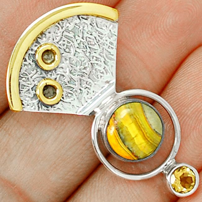 Indonesian Bumble Bee 925 Sterling Silver Pendant Jewelry ECPP557…