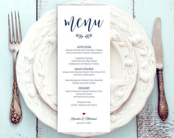 navy blue wedding menu template rustic wedding menu menu wedding