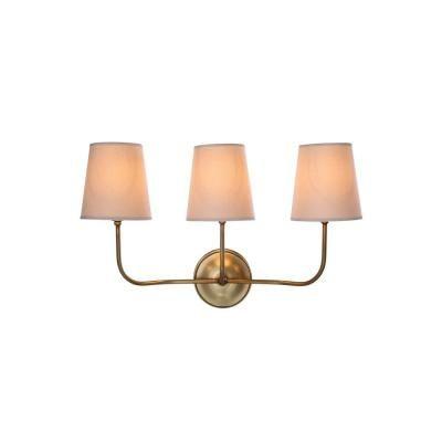Elegant Lighting Lancaster 3-Light Burnish Brass Wall Sconce-1411W22BB - The Home Depot