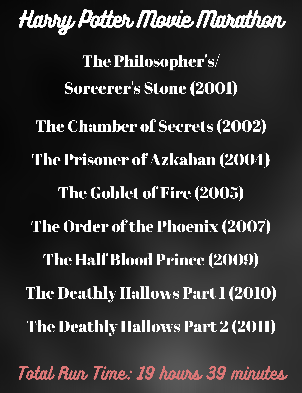 Harry Potter Movie Marathon Movie Marathon Remember Movie Perfect Movie Night