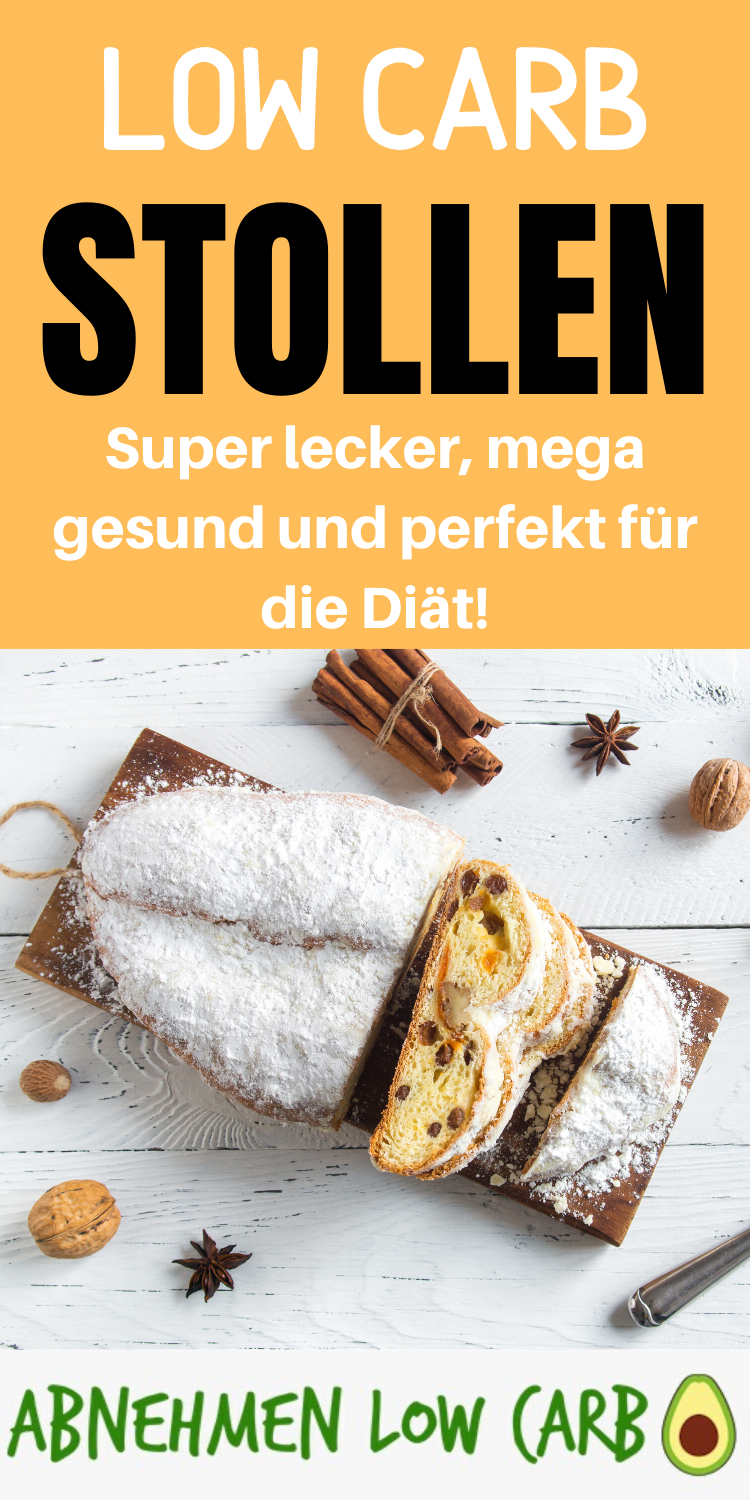Low Carb Stollen - Abnehmen Low Carb #ketodesserts