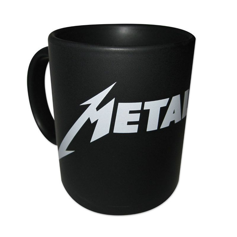 metallica logo coffee mug white logo wish list 2016. Black Bedroom Furniture Sets. Home Design Ideas