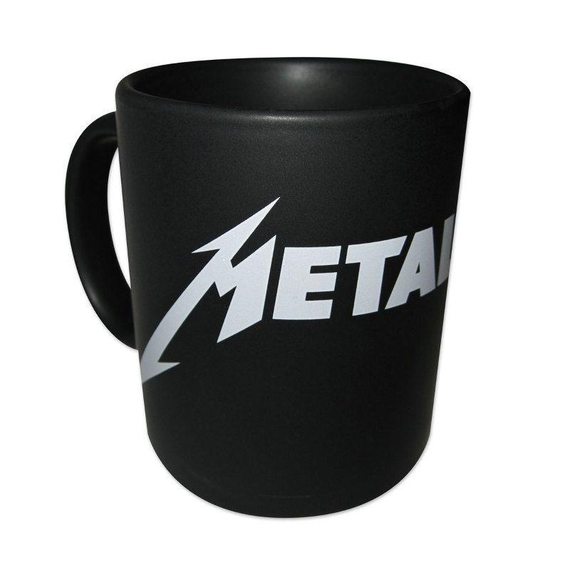 metallica logo coffee mug white logo wish list 2016. Black Bedroom Furniture Sets. Home Design Ideas
