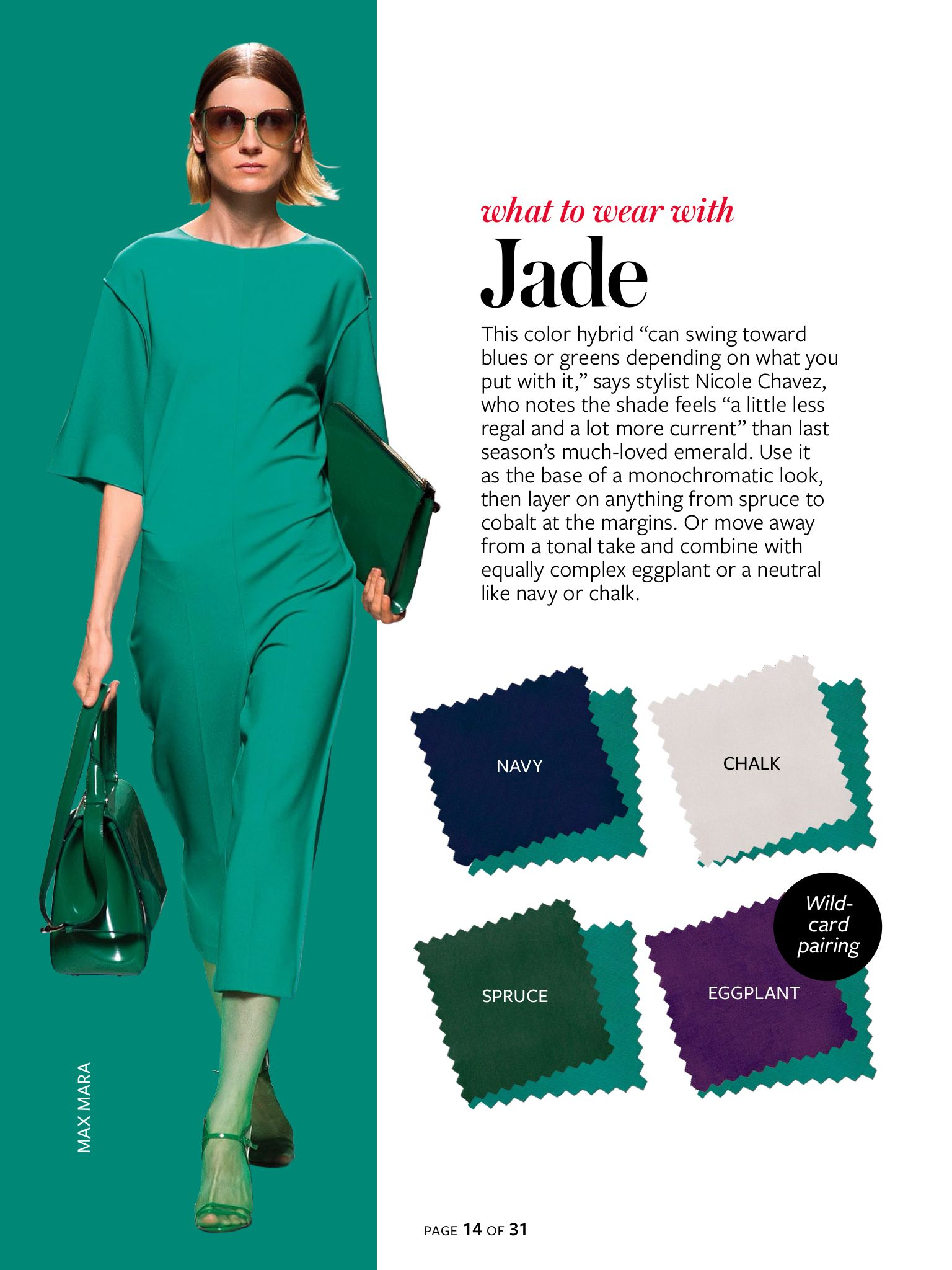 What to wear with...jade green. | Color Crash Course | Pinterest ...