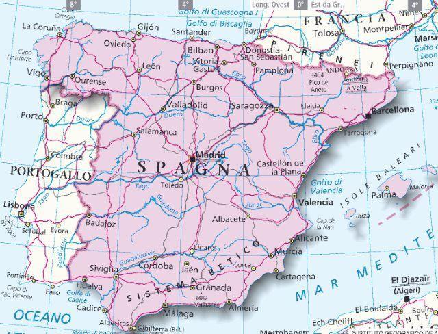 San Sebastian Spagna Cartina.Mappa Spagna Cartina Della Spagna Mappa Spagna San Sebastian