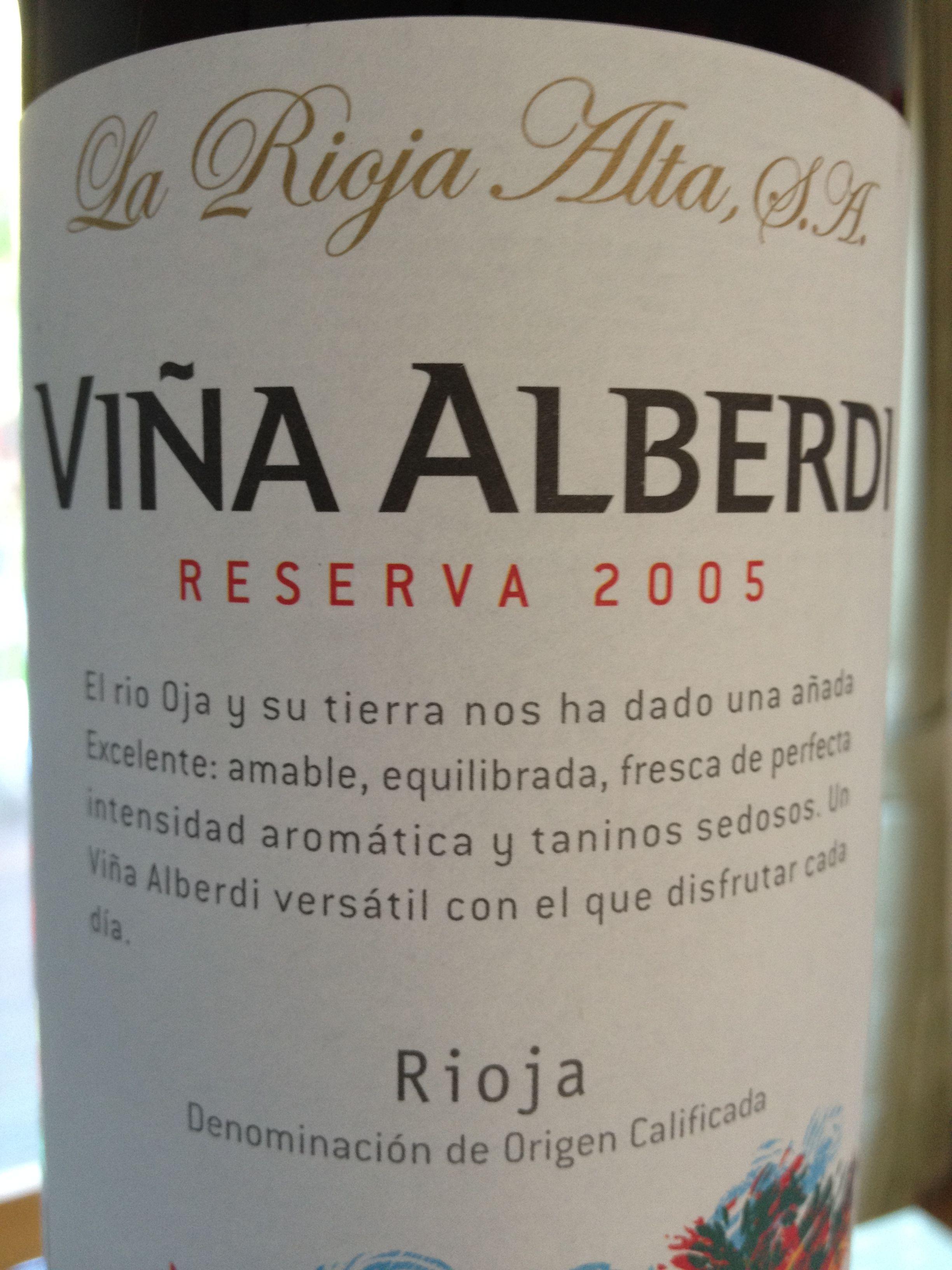 Vina Alberdi Reserva 2005 Vodka Bottle Wines Rioja