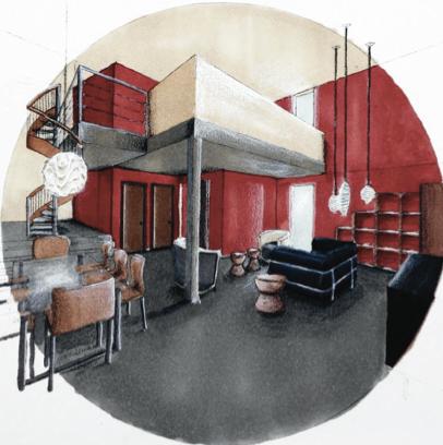 Livable Machine Interior Design Blog Hand Rendering