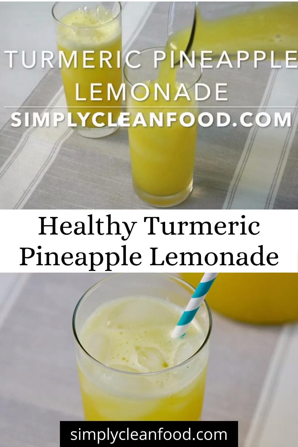 Photo of Healthy Turmeric Pineapple Lemonade