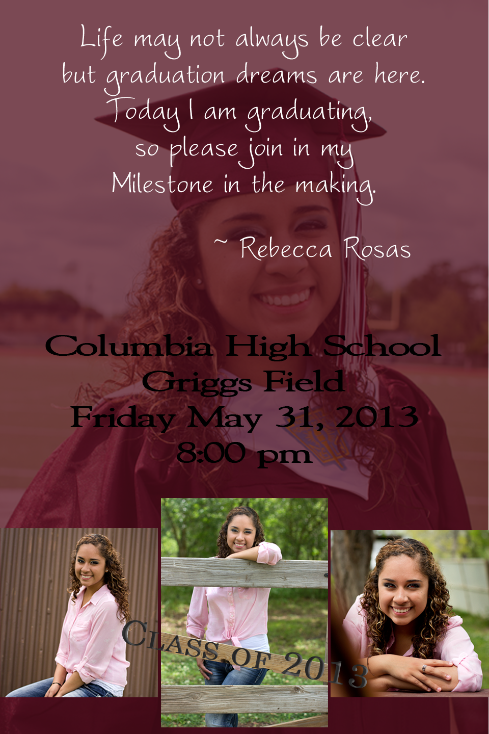 Graduation invitation Graduation Invitations Pinterest