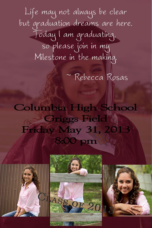 Graduation invitation   Graduation Invitations   Pinterest ...