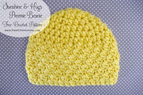 Sunshine And Hugs Preemie Beanie Free Crochet Pattern Preemies