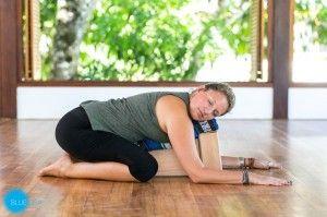 restorative yoga for stress  fatigure pose balasana