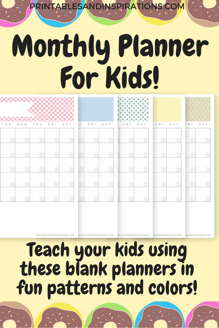 Free Printable Monthly Planner For Kids And Adults  Kids