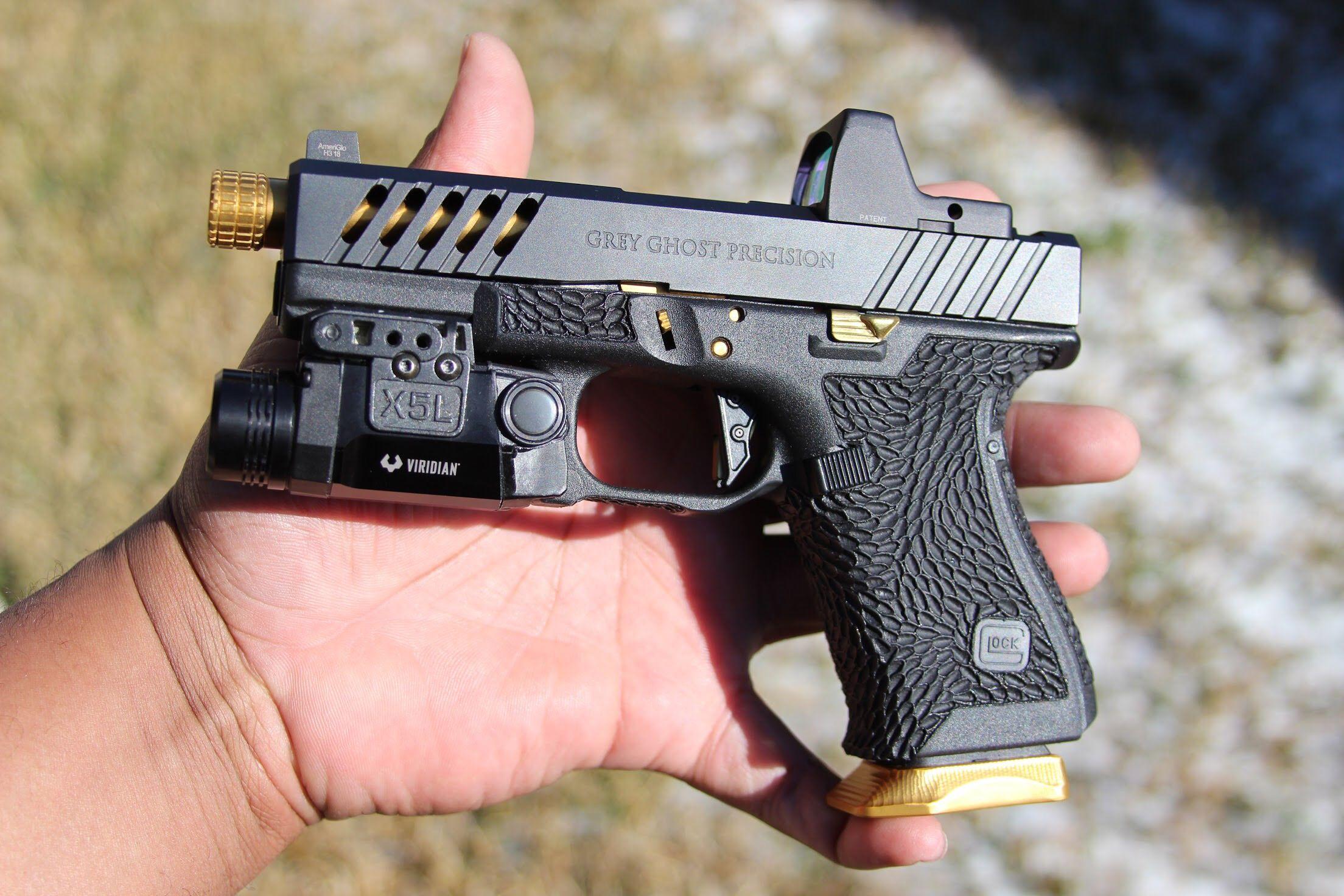 Custom Grey Ghost Precision Glock 19  Follow us on Instagram
