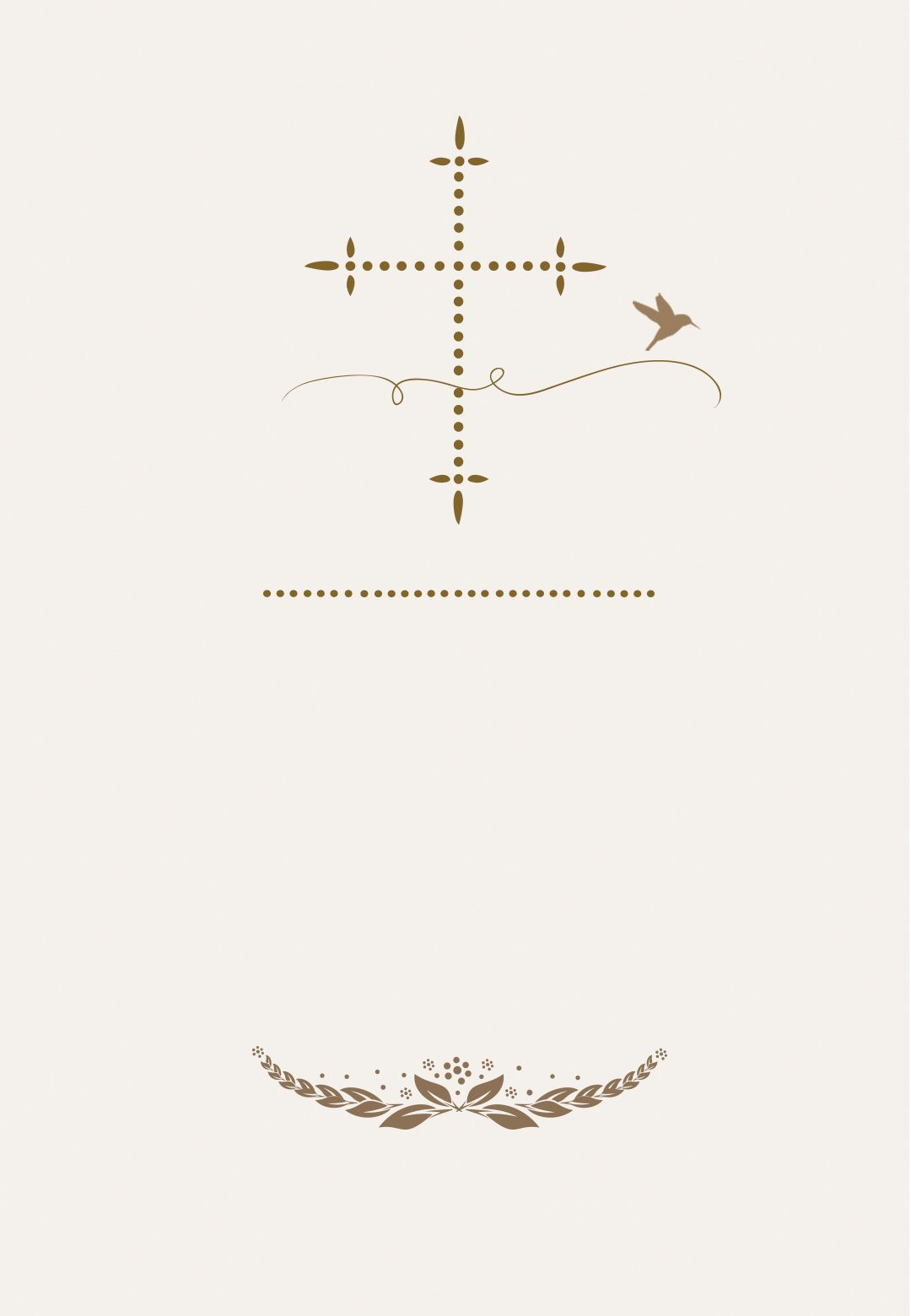 Stylized Cross Free Communion Invitation Template Greetings