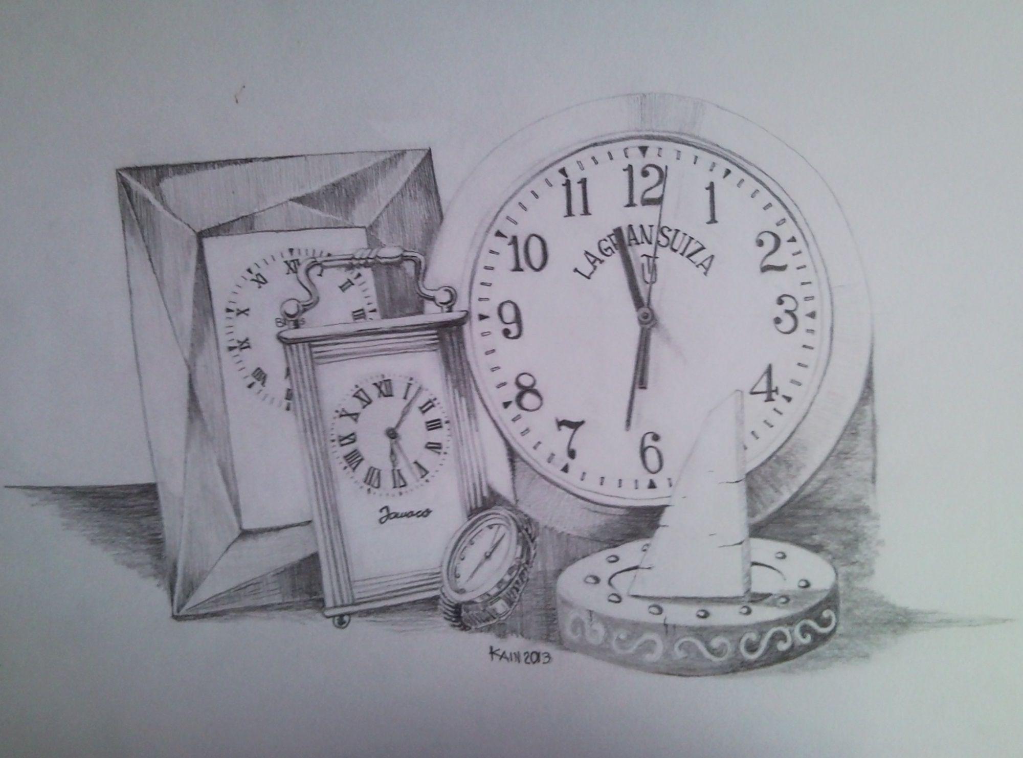 Worksheet. Tiempo Ejercicio de dibujo de relojes a lpiz grafito tomado