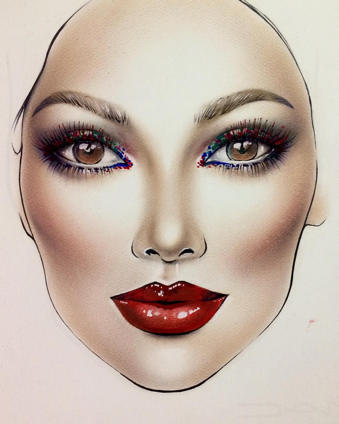 Face Chart Make Up Pinterest Face Charts Chart And Face