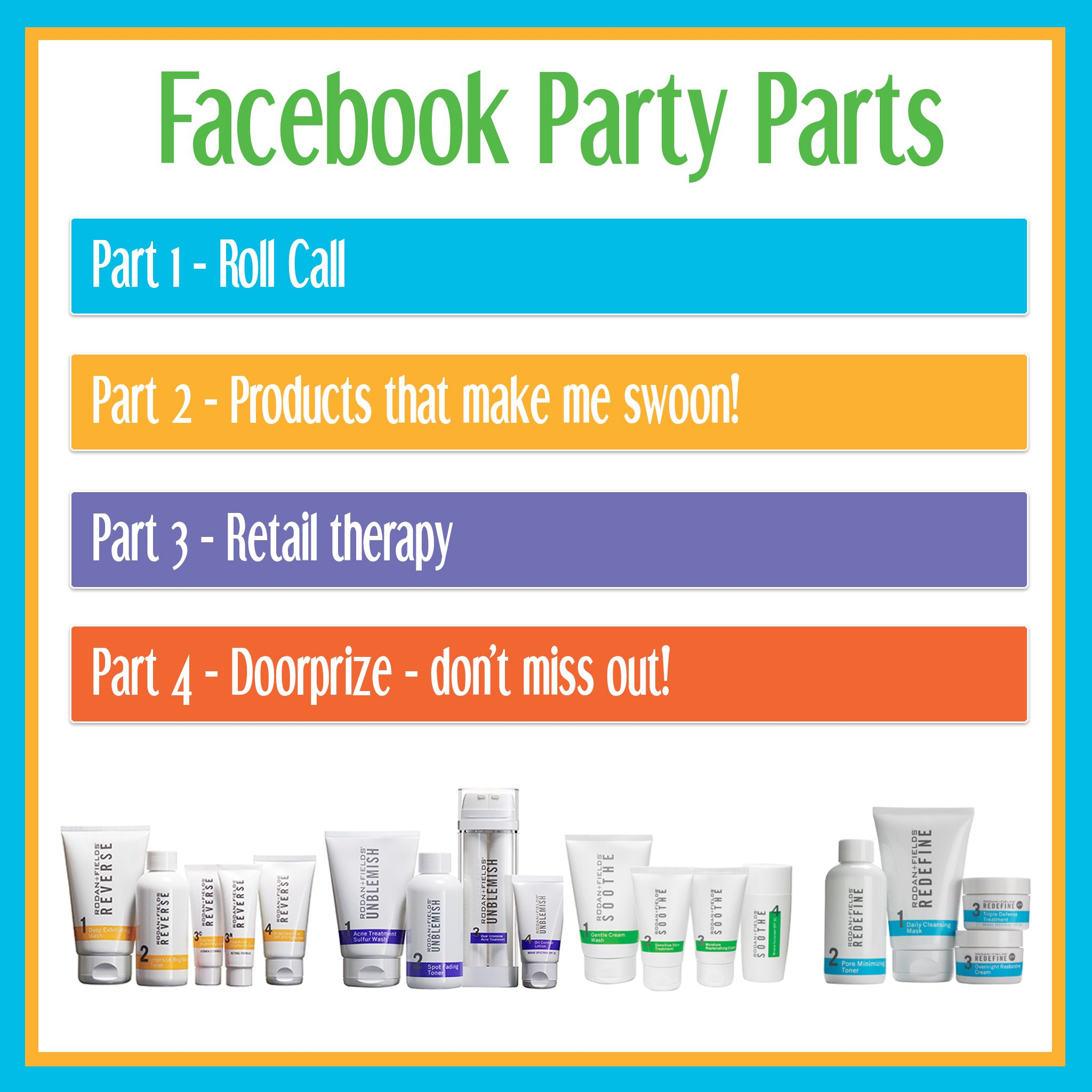 d77d8c42d5c RODAN + FIELDS FACEBOOK PARTY | R+F new business | Rodan, fields ...