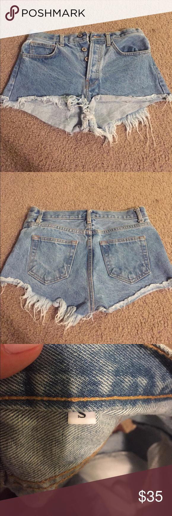 Brandy Melville Jean Shorts Brandy Melville Jean Shorts. Never worn. Brandy Melville Shorts Jean Shorts