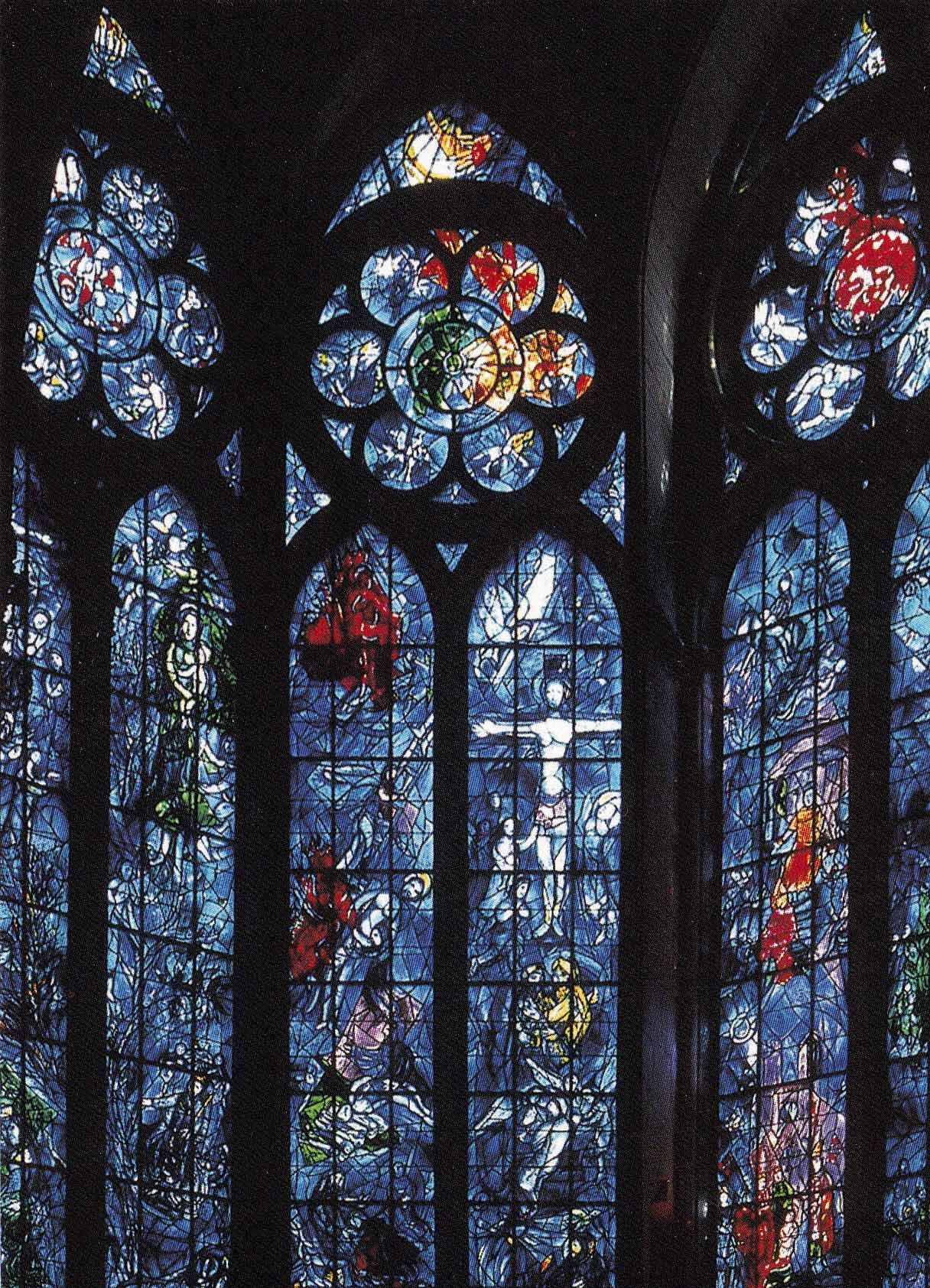 Stained Glass Windows Reims Cathedral Marc Chagall Stained