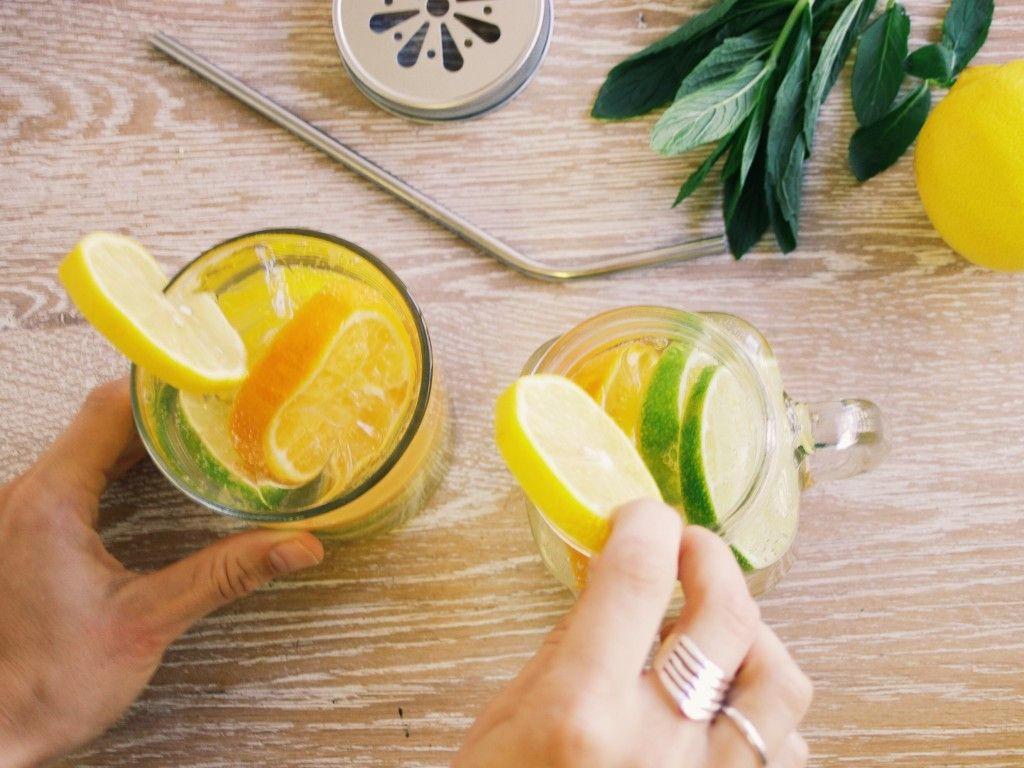 Citrus twist sparkling water made with the kitchenaid