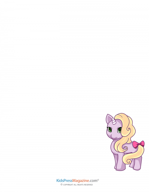 My Little Pony Blank Page 3