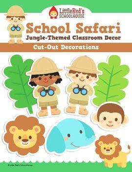 Classroom Decor - Cut Out Decorations - Jungle Safari Theme  sc 1 st  Pinterest & Classroom Decor - Cut Out Decorations - Jungle Safari Theme | Safari ...