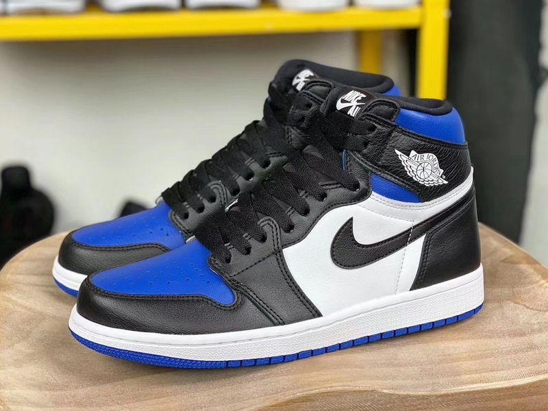 2020 Air Jordan 1 Retro High Og Black Game Royal 555088 041 In