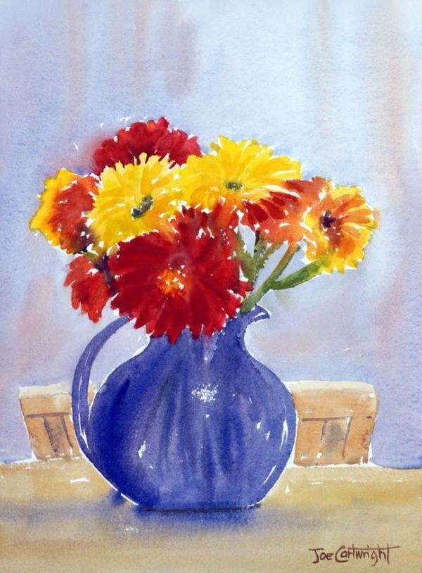 40 Beautiful Paintings Of Flowers Beautiful Paintings Of Flowers