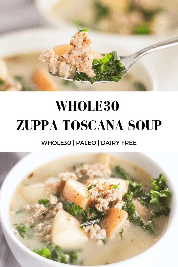 Whole30 Zuppa Toscana Soup #zuppatoscanasoup