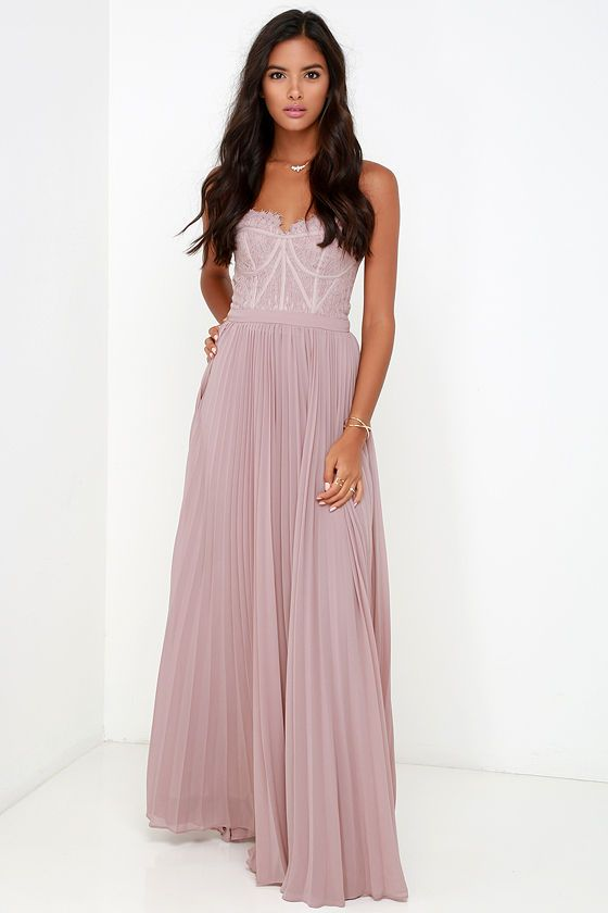 kanten maxi dress