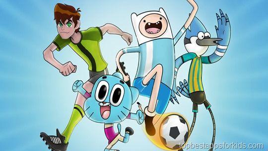 Cartoon Network Superstar Soccer Game App For Kids Kids App Cartoon Network Cartoon Kids