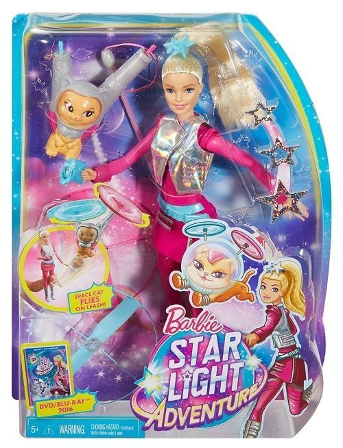 Galaxy Barbie Doll W Flying Cat Propllers Space Fantasy Star Light Adventure Toy #Barbie #PetsAnimals