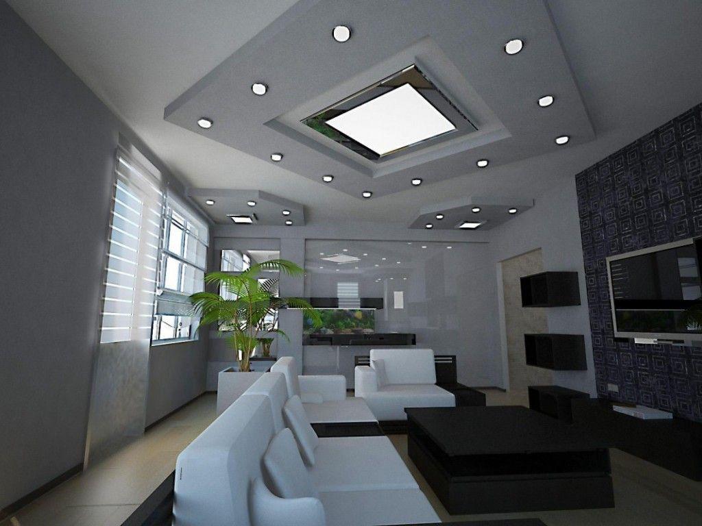 gesso com paflom e luminrias de teto  Decorao  Gesso  Luminaria teto Luminria e Decorao