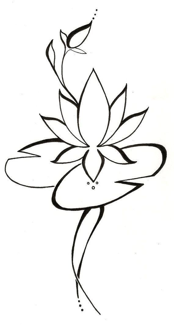 Lotus Lilypad Original Tattoo Design Original Tattoos Line Art Tattoos Unique Tattoos