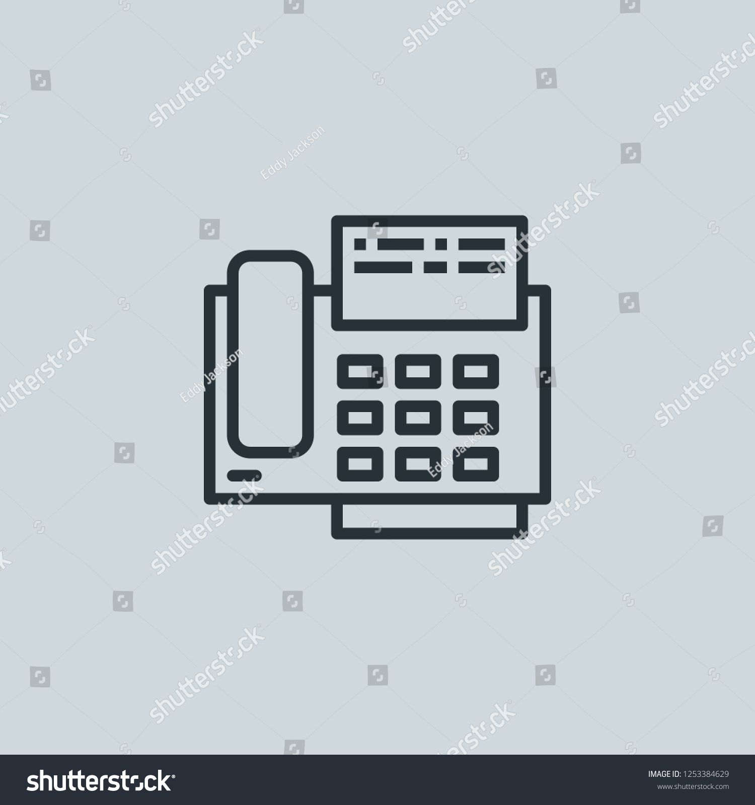 outline fax vector icon fax illustration for web mobile apps design fax vector symbol icon fax vector outli create yourself royalty free photos mobile app pinterest