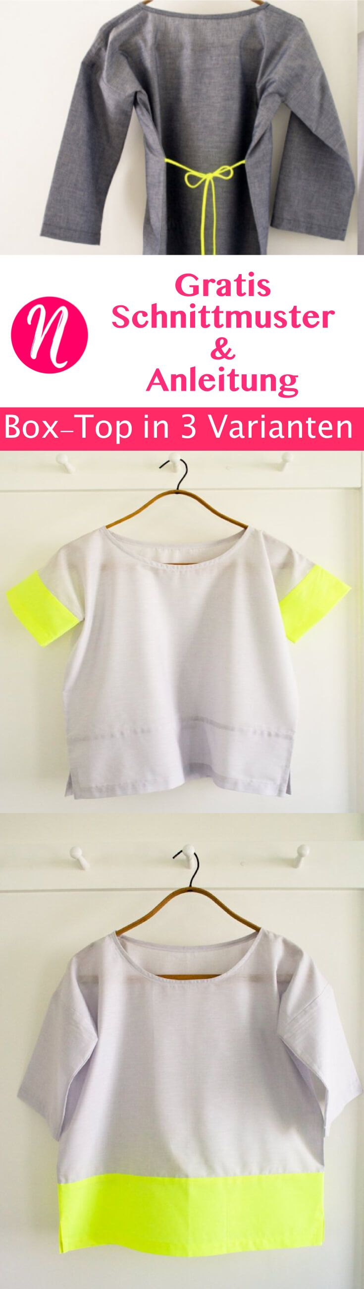 Einfaches Box-Top für Damen | Diy clothing, Sewing ideas and Sewing ...