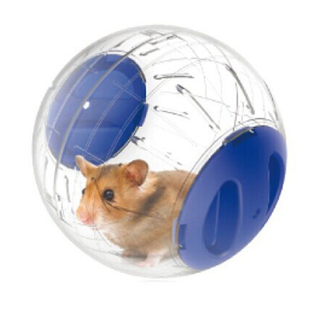Bleumoo 1 Pcs Plastic Pet Exercise Ball Animals Mice Hamster Gerbil Safe Jogging Play Cage Blue Wish To Know Much More Click The Small Pets Pet Toys Hamster