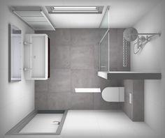 Kleine badkamer met inloopdouche - kleine douche | Pinterest ...