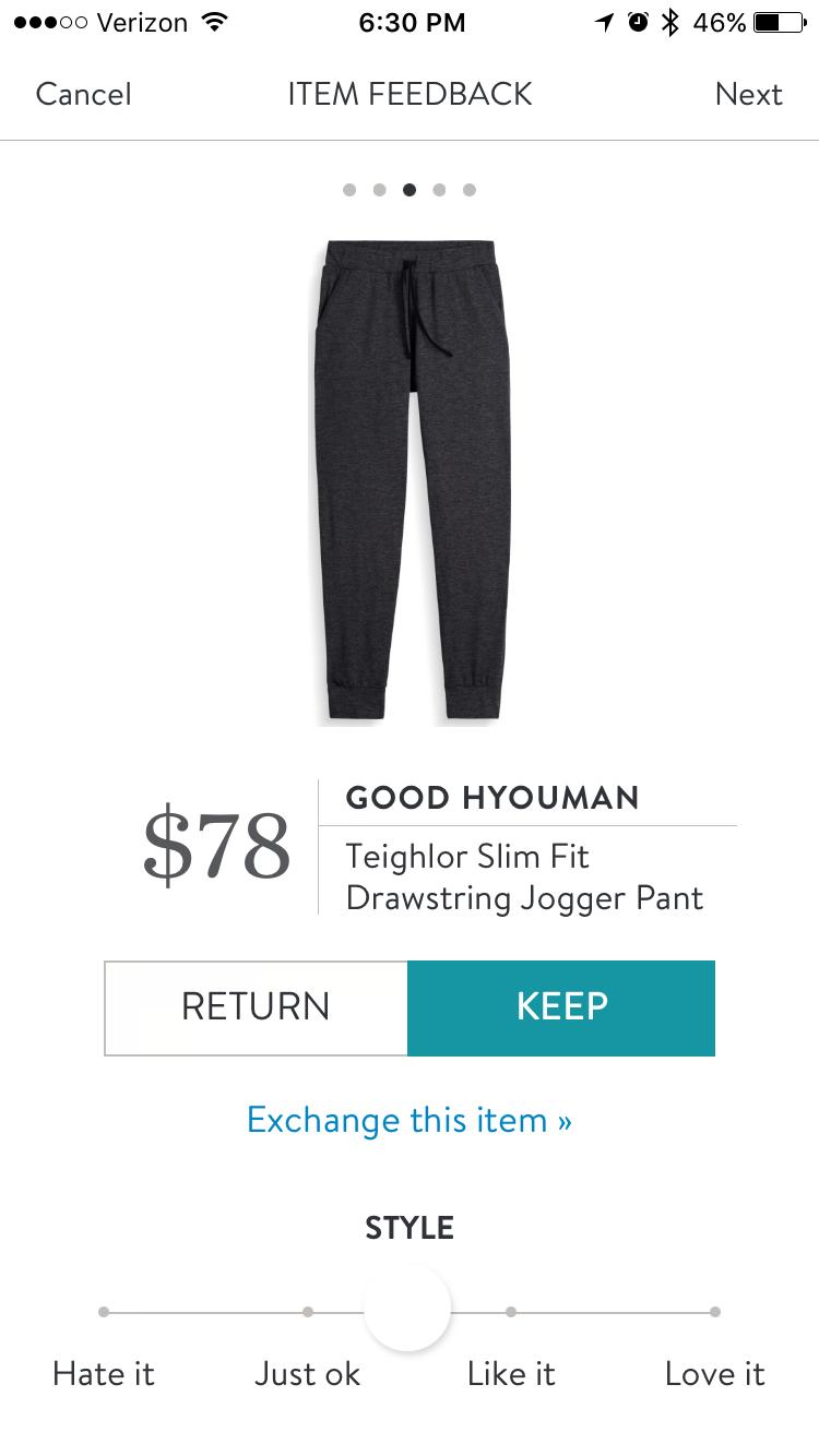 Good Hyouman jogger pant stitch fix. I love Stitch Fix! A