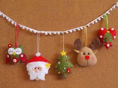moldes para hacer muecos y adornos navideos en fieltro lodijoella