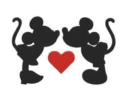 Billedresultat for minnie and mickey in love silhouette pochoir disney et fimo - Coloriage minnie jouet ...