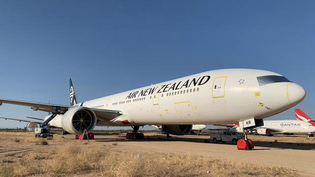 Air New Zealand Boeing 777's parked up in the Mojave