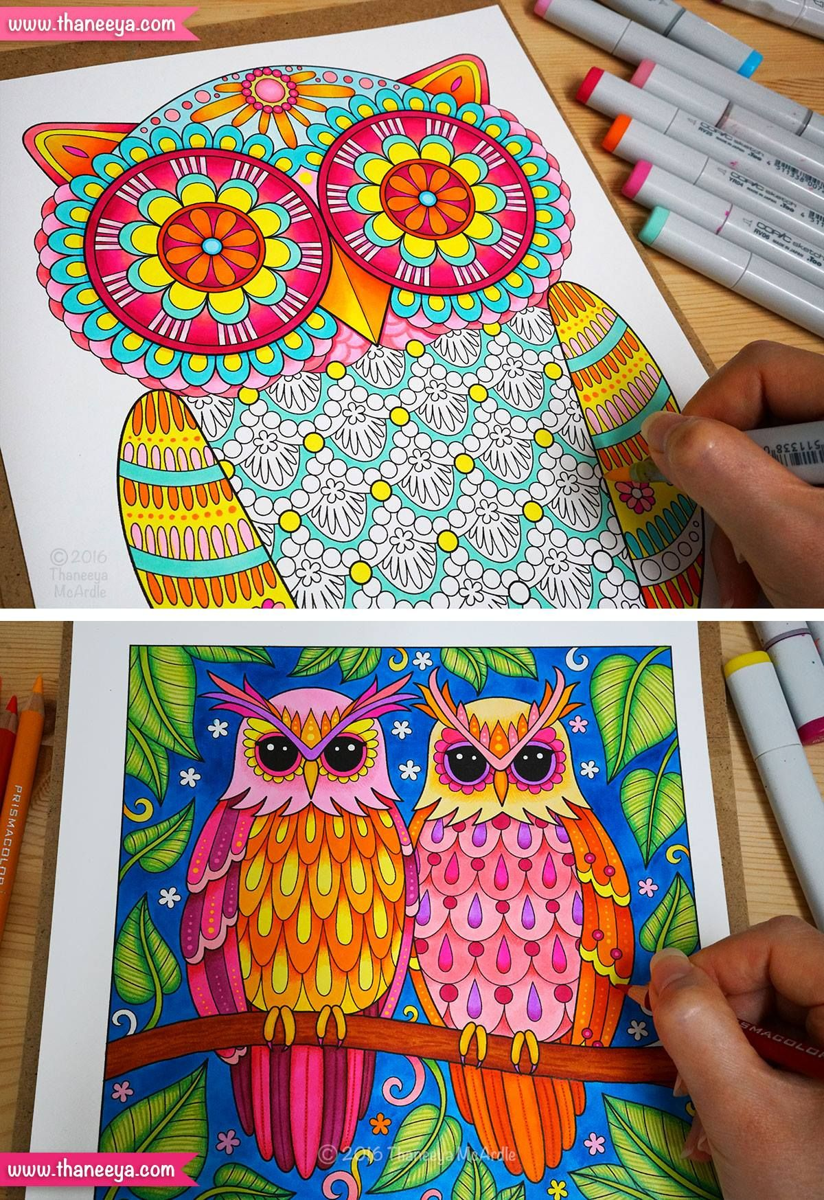 Groovy Owls Coloring Book By Thaneeya Mcardle Owl Coloring Pages Coloring Books Student Art