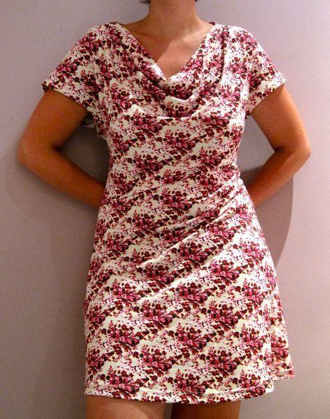 23502c6e4269b1 De Eva-dress is een gratis patroon voor een tricot jurk