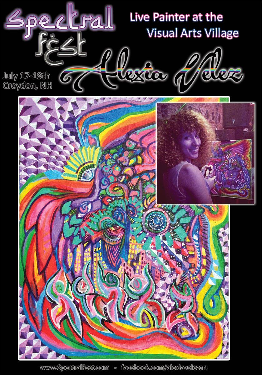 Alexia Velez is a NY canvas and body artist who will be exhibiting her creations at Spectral Fest's Visual Arts Village this July 17-19th in Croydon, NH. See more art at www.SpectralFest.com or www.facebook.com/alexiavelezart